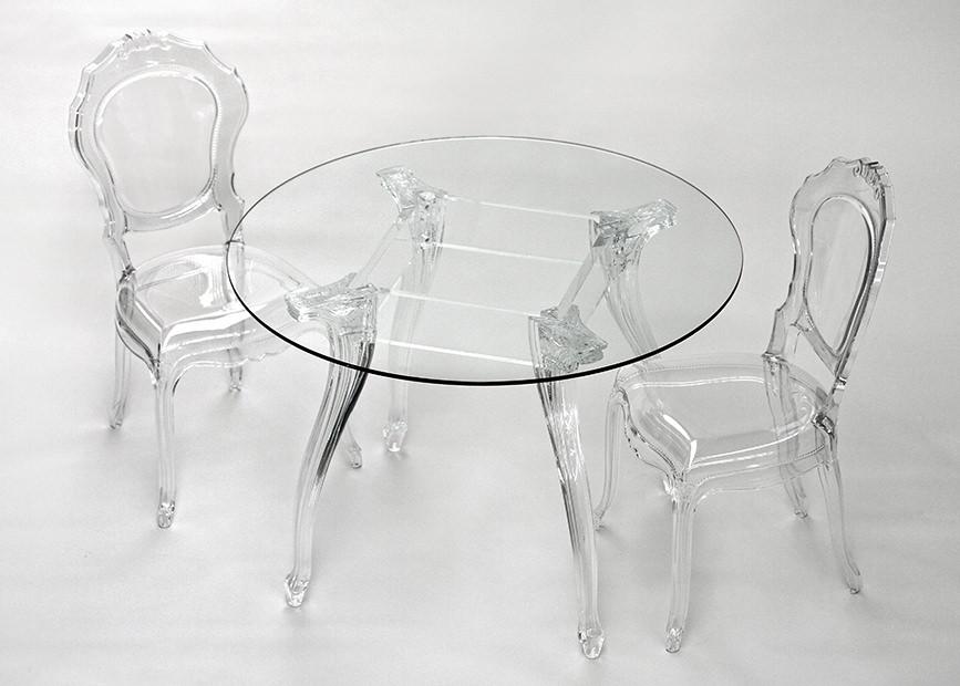 Tavolo Tondo Plexiglass.Belle Epoque T